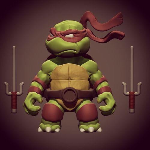 chibi mutant ninja turtles  - raffa 3d model stl 1