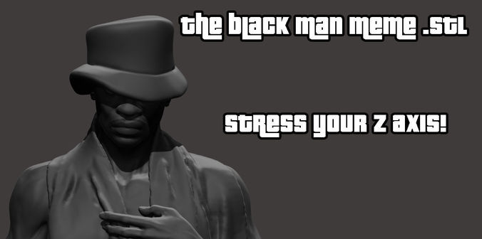 whatsapp black man meme 3d model stl 1