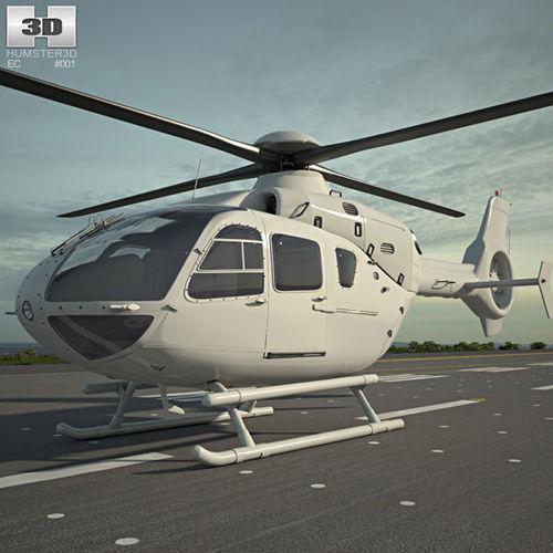 eurocopter ec135 3d model max obj 3ds fbx c4d lwo lw lws 1