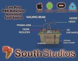 Animated Pumpjack AR VR Unity 3dsmax animated