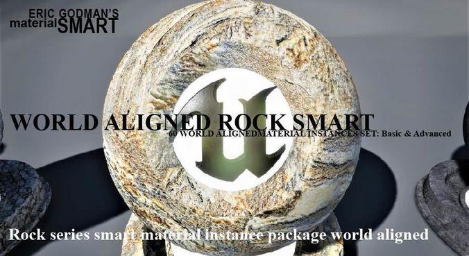 rock world aligned materials 3d model uasset 1