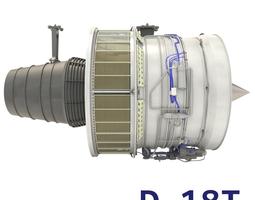 3D D-18T turbofan engine light