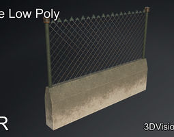 Fence military - security system 3D model