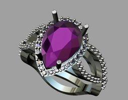 3D printable model Amethyst - diamond ring