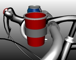 HandleBar Solo Cup Holder 3D Model
