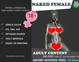 3D Naked Girl Printable A1-015 girls