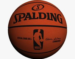 Official NBA Basket Ball 3D Model