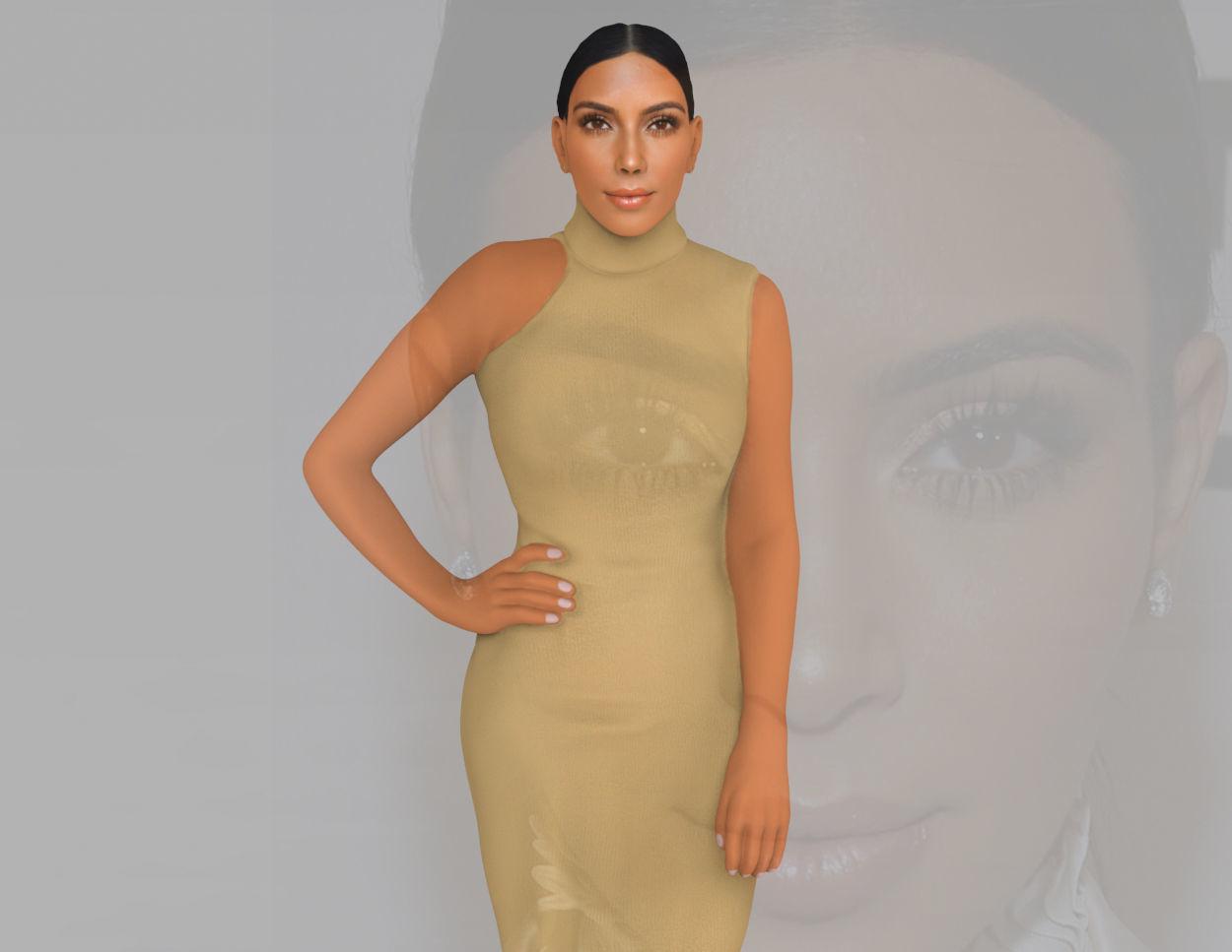 Kim Kardashian ready for full color 3D printing