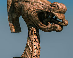 TKs Carved Dragon Head 3D Model