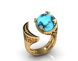 turquoise ring (moon earth) 3D Model