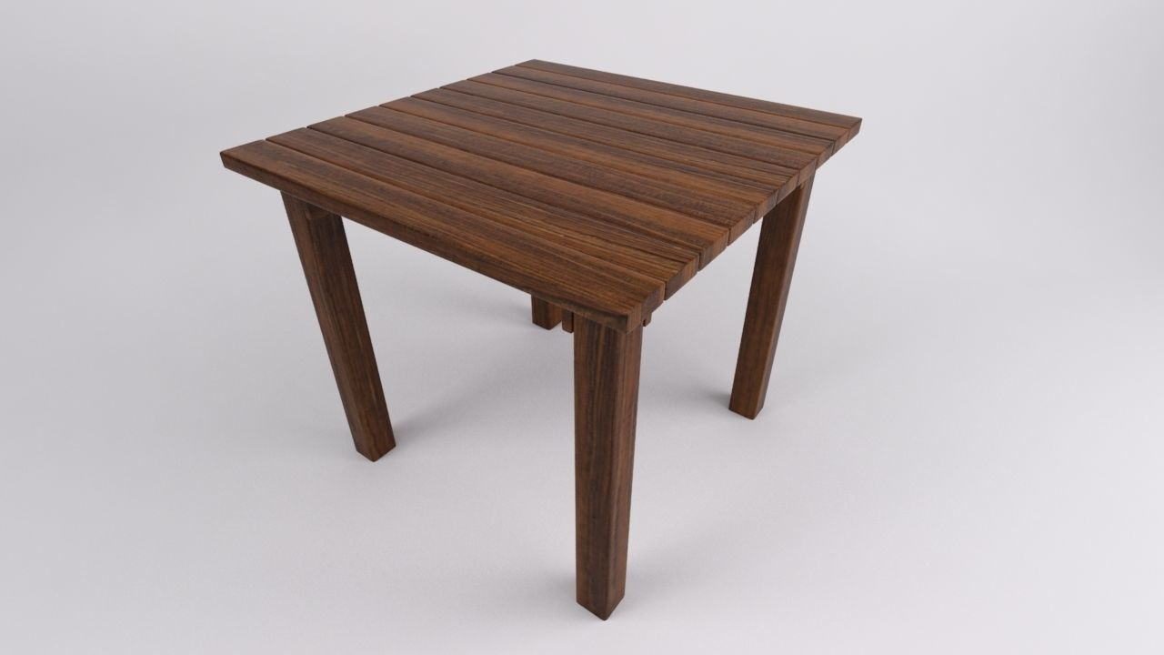 Rustic Kitchen Table 3D table | CGTrader