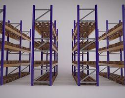 3d model warehouse racking