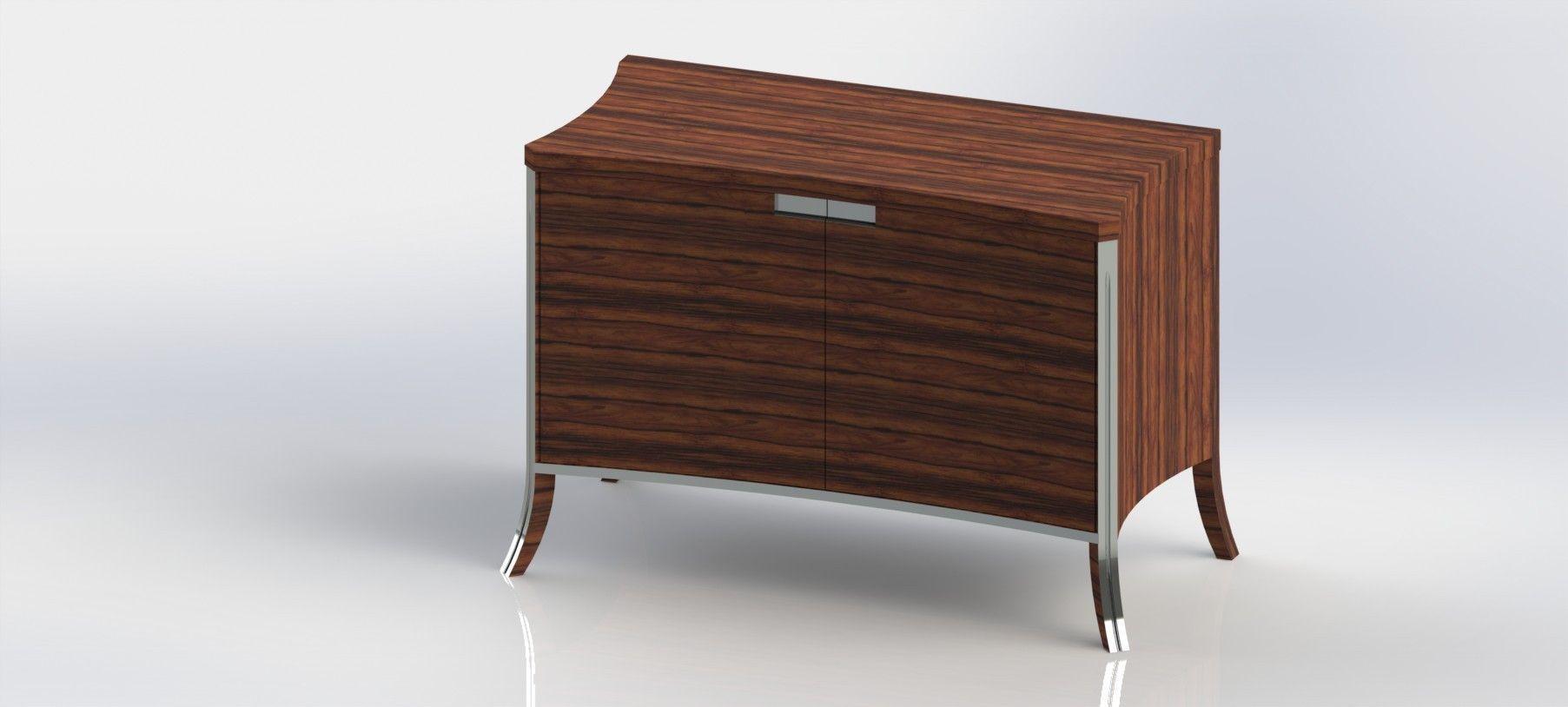 Sideboard 3d model stl dwg sldprt sldasm slddrw ige for Sideboard 3d