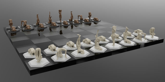 nsfw chess  - flexible women 3d model stl 3dm 1