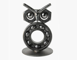 3D Metal Owl