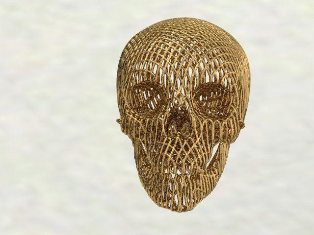 skull 3d model stl 1