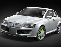 Volvo c30 Recharge electric car 3D Model