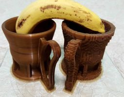 3D print model Coffee Mugs - Smooth and Voxels