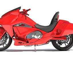 Sport Motorcycle - 3D Models