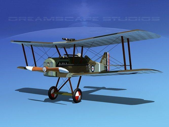 raf se5a fighter v08 3d model max obj mtl 3ds lwo lw lws dxf stl 1