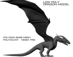 Low Poly Dragon 3D Model