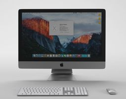v-ray rigged Apple iMac 4K Retina - Element 3d