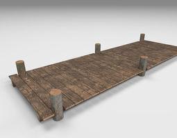 Wooden Park Deck floor 3D model