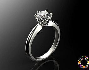 fashion-ring Engagement ring set 0068 3D print model