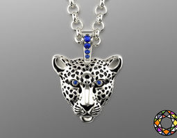 3D printable model Light leopard pendant with enamel 0076