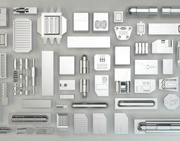 Metal Kit Bash Set 3D model