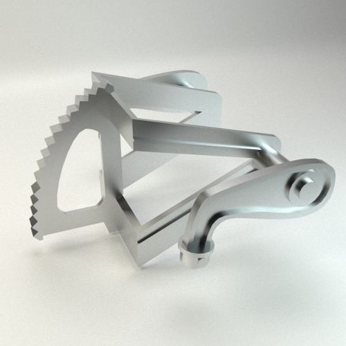 motocycle metal part 3d model max obj mtl 3ds fbx 1