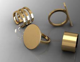 4 rings 3D Model
