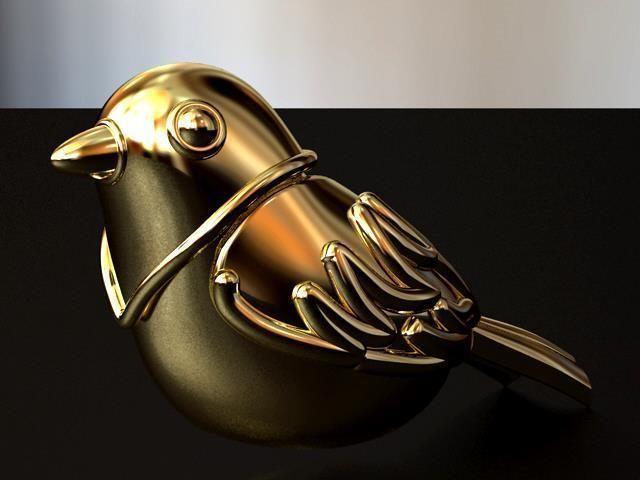 bird hollow earring 3d model obj mtl stl 1