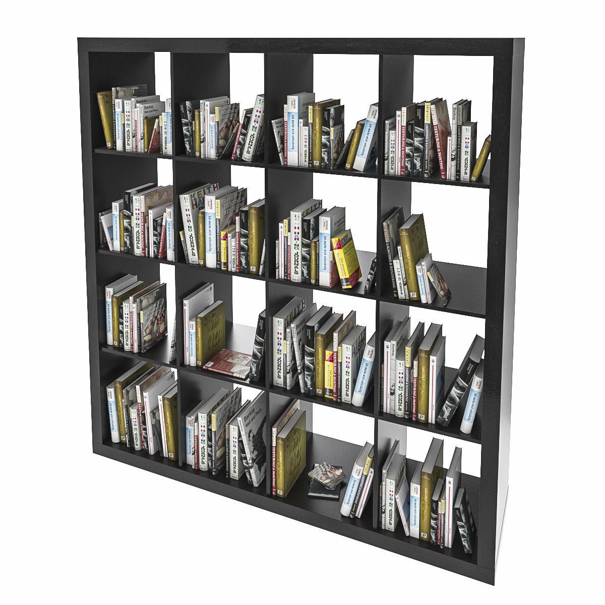 Expedit shelf with books