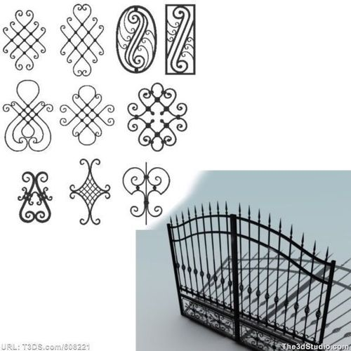 Big wrought iron collection3D model