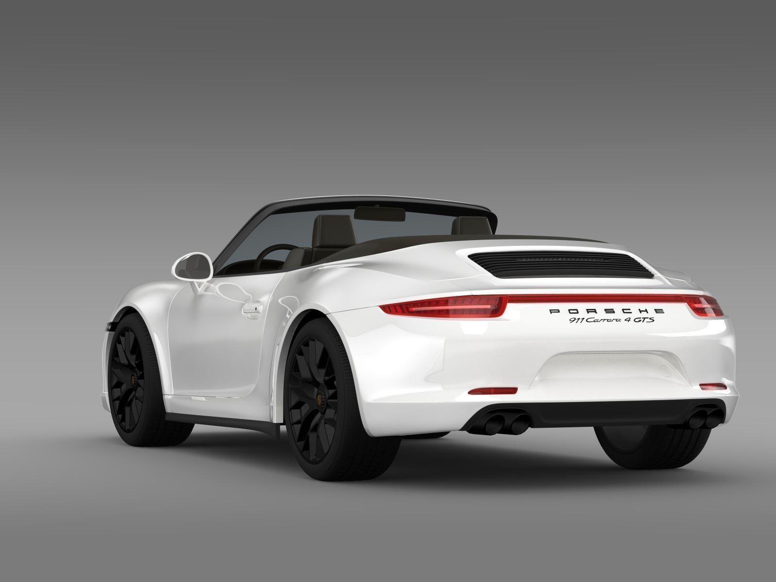 Porsche 911 Carrera 4 Gts Cabriolet 991 2015 3d Model Max Obj 3ds Fbx C4d Lwo Lw Lws Cgtrader Com