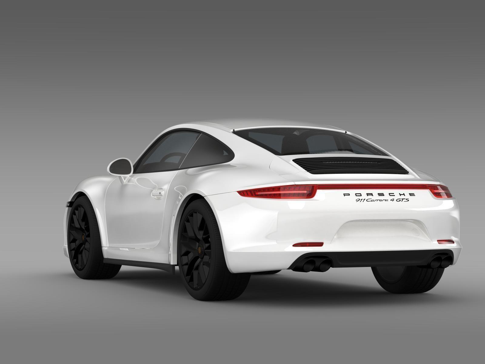 porsche 911 carrera 4 gts coupe 991 2015 3d model max obj 3ds fbx c4d lwo lw lws. Black Bedroom Furniture Sets. Home Design Ideas