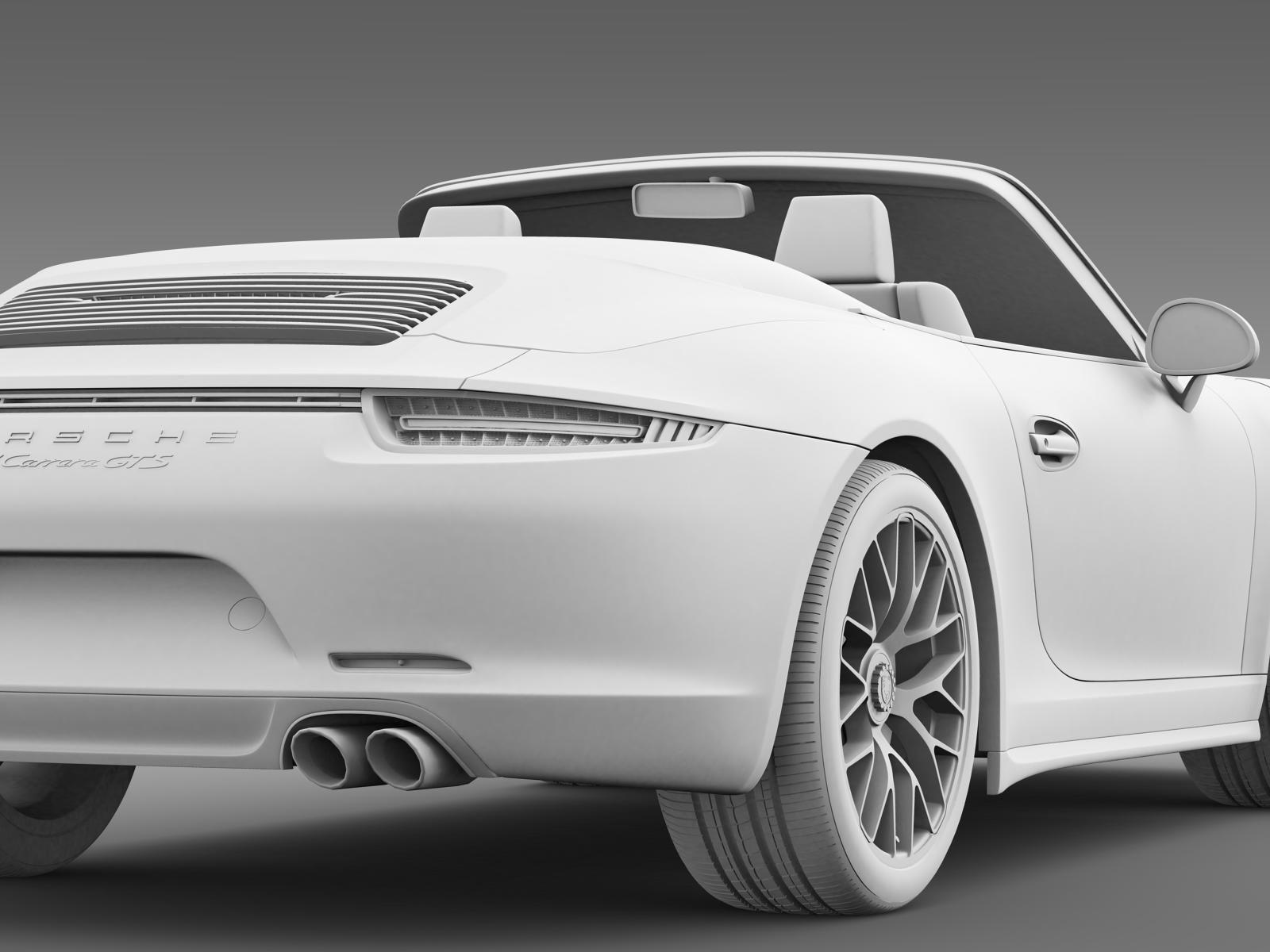 porsche 911 carrera gts cabriolet 991 2015 3d model max. Black Bedroom Furniture Sets. Home Design Ideas