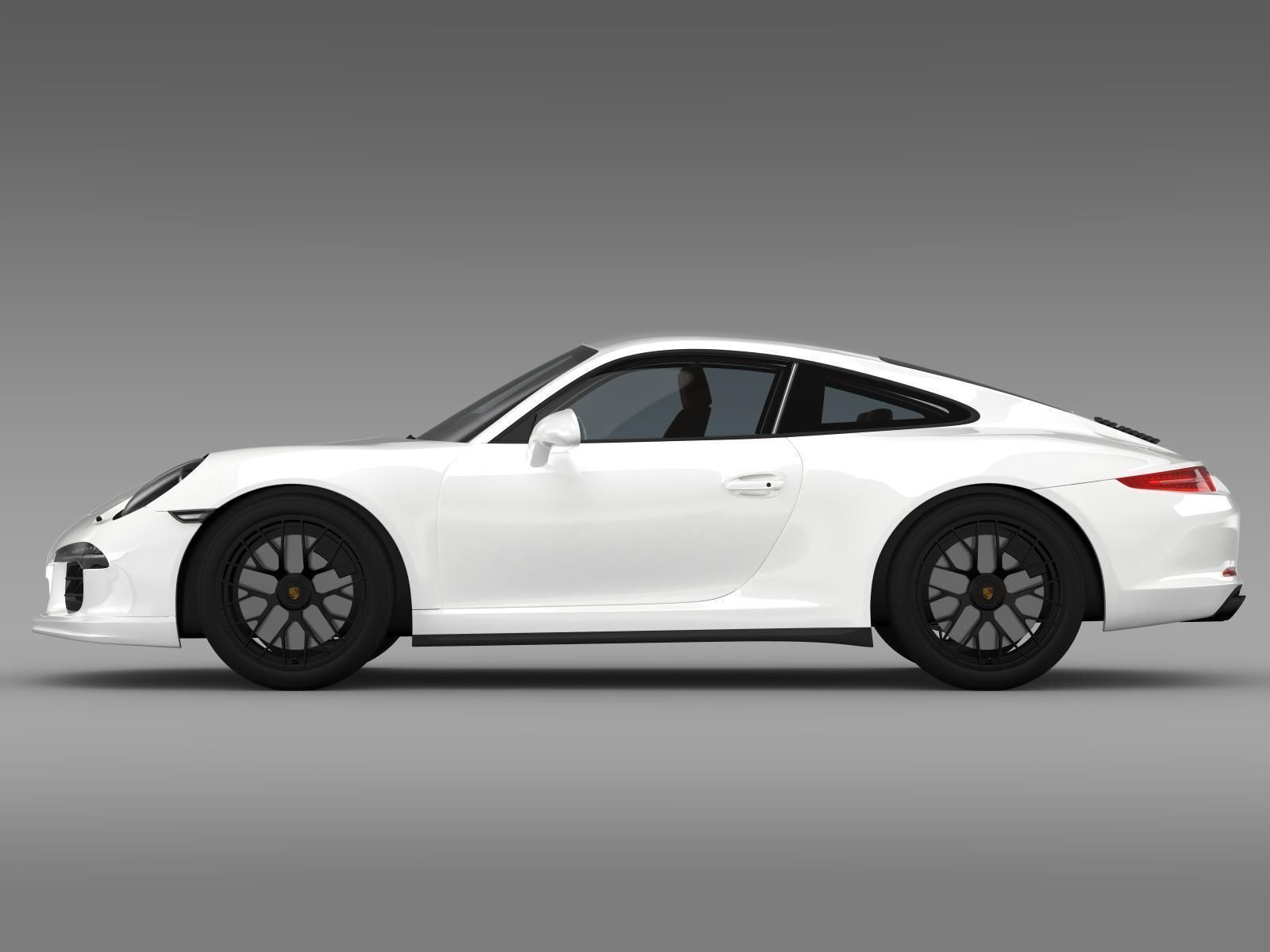 porsche 911 carrera gts coupe 991 2015 3d model max obj 3ds fbx c4d lwo lw - 911 Porsche 2015