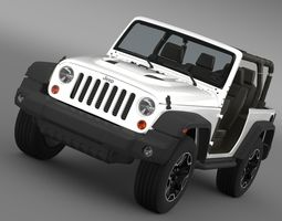 3d jeep wrangler rubicon 10th anniversary 2014