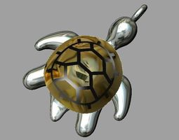 3D printable model Turtle pendant