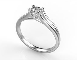 3D printable model Diamond Ring All Size