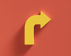 3D Arrow Bold Right