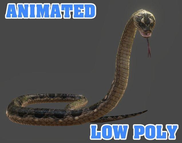 snake 3d model - animated 3d model low-poly max obj mtl 3ds fbx 1