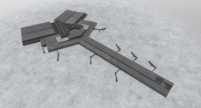 lbsf terminal 2 3d model low-poly max obj 3ds fbx mtl 1