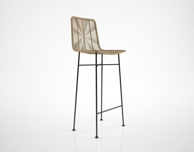 Bloomingville Natural Rattan Bar Stool 3D Model