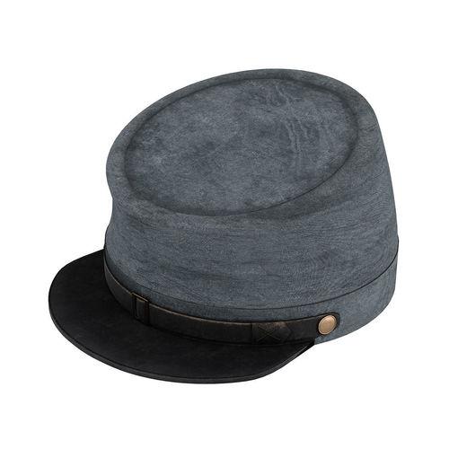 e8d863bb15a American Civil War Confederate Cavalry Hat Kepi 3D model
