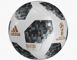 Telstar Adidas Soccer Ball 2018 3D model