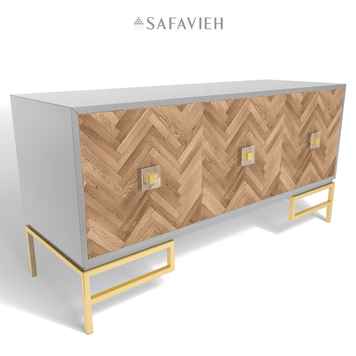 ... Sanford Walnut 3 Drawer Side Table 3d Model Low Poly Max Fbx 3 ...