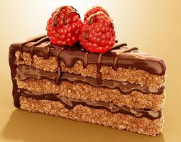 food Chocolate Cake 3D model